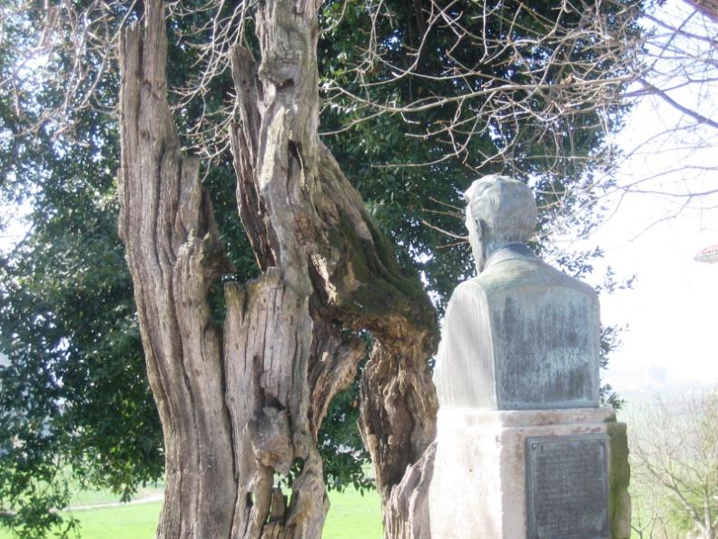 Resultado de imagen para busto de hombre en un jardin