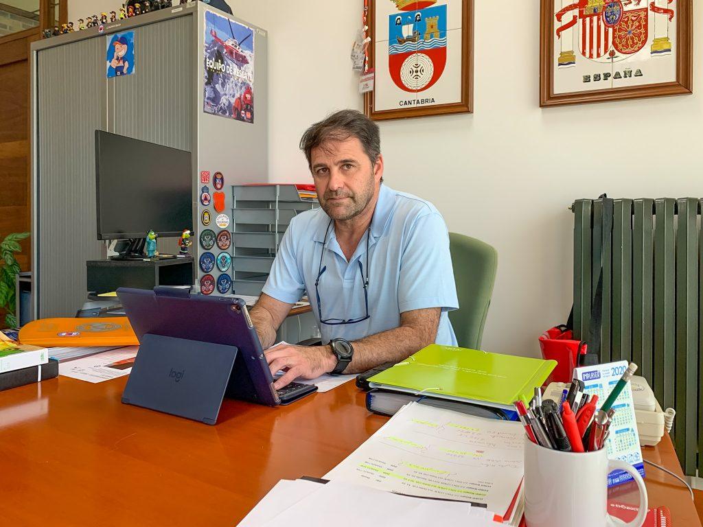 El concejal de Empleo y presidente de la Mancomunidad Miengo-Polanco, Pedro Roca