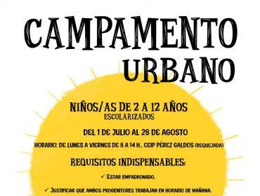 Cartel del campamento urbano 2020