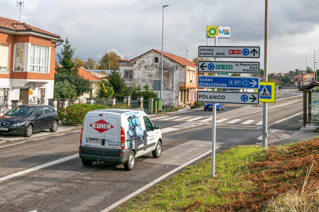 Travesía de Requejada y acceso a la autovía