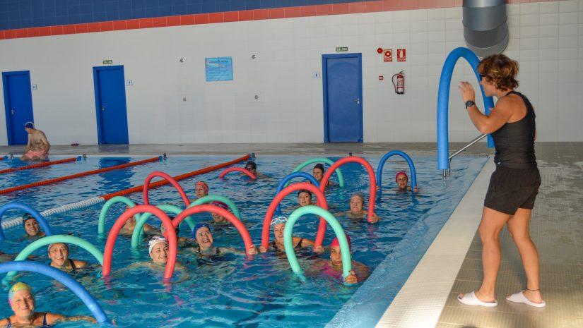 Vecinos de Polanco practicando actividad deportiva