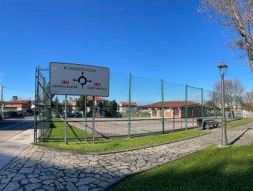 Pista deportiva anexa al centro de salud de Polanco que se ofrece para ampliar las instalaciones sanitarias