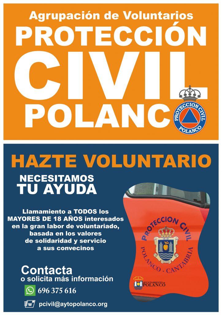 Cartel editado para la campaña de captación de voluntarios