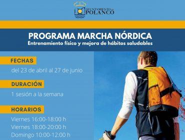 Cartel de la actividad de marchas nórdicas en Polanco