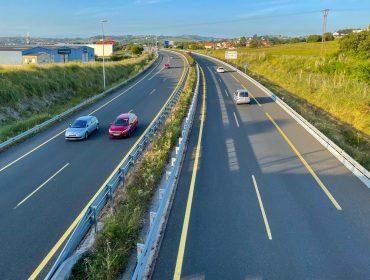 Circulación en la autovía A-67 a su paso por el municipio de Polanco