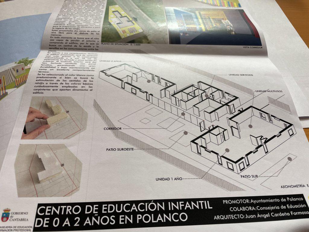 Representación gráfica de futuro edificio que albergará el centro de educación infantil de 0 a 2 años