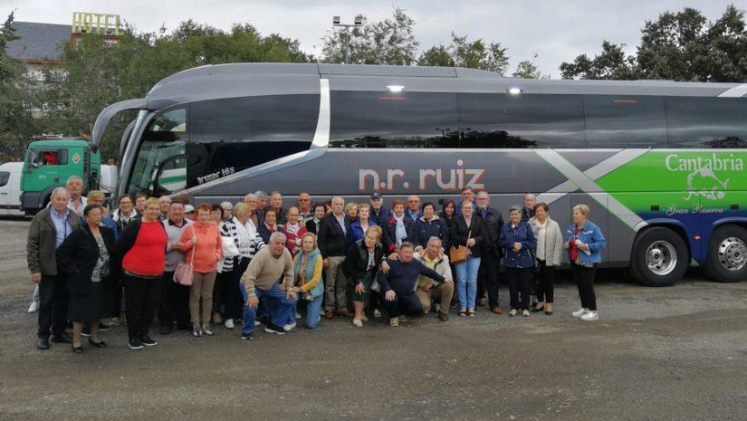 (Imagen de Archivo) Colectivo de mayores de Polanco durante unos de sus últimos viajes a Benidorm