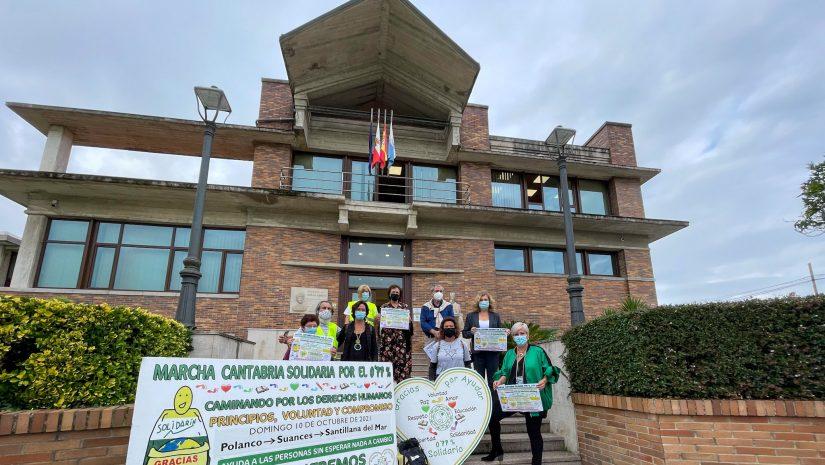Presentación de la marcha del 0,77% con la presencia de representantes de Polanco, Suances y Santillana del Mar, así como de entidades sociales de los municipios